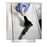Forensic Evidence Shower Curtain