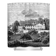 France: Wine Ch�teau, 1868 Shower Curtain