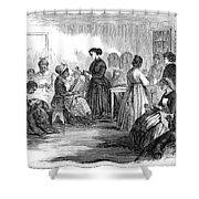 Freedmens School 1866 Shower Curtain by Granger