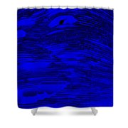 Gentle Giant In Negative  Blue Shower Curtain