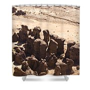 Giant Sandstone Outcroppings Deep Shower Curtain