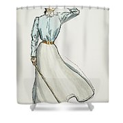 Gibson Girl, 1899 Shower Curtain