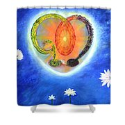 God Lives In My Heart Shower Curtain