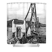 Golden Gate Bridge Work Shower Curtain