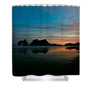Golden Morning At A Beach  Shower Curtain