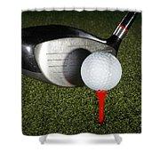 Golf Ball And Club Shower Curtain