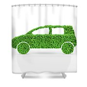 Green Car Shower Curtain