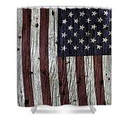 Grungy Textured Usa Flag Shower Curtain
