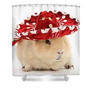 Guinea Pig Wearing A Hat Shower Curtain