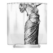 Harem Woman, 19th Century Shower Curtain