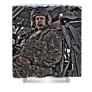 Hdr Image Of A Pilot Sitting Shower Curtain