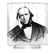 Herbert Spencer, English Polymath Shower Curtain by Science Source
