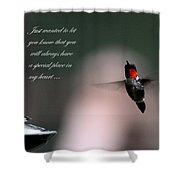 Hummingbird Card Shower Curtain