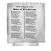Hunters Of Kentucky, 1815 Shower Curtain