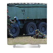 Infantry Soldiers Of The Belgian Army Shower Curtain
