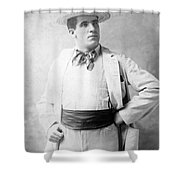 James J. Corbett Shower Curtain