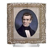 James Polk, 11th American President Shower Curtain by Photo Researchers