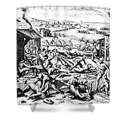 Jamestown: Massacre, 1622 Shower Curtain
