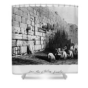Jerusalem: Wailing Wall Shower Curtain