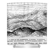 Johnstown Flood, 1889 Shower Curtain