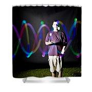 Juggling Light-up Balls Shower Curtain