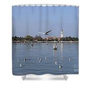 Lagoon. Venice Shower Curtain