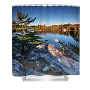 Lake George At Killarney Provincial Park In Fall Shower Curtain