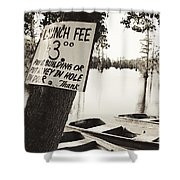 Launch Fee - Sepia Toned Shower Curtain