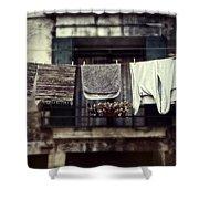 Laundry Shower Curtain by Joana Kruse