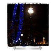 London Eye Night View Shower Curtain