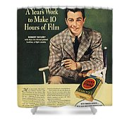 Lucky Strike Cigarette Ad Shower Curtain