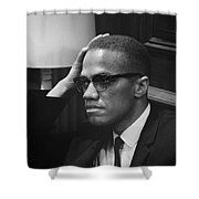 Malcolm X (1925-1965) Shower Curtain