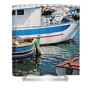 Maltese Harbor Shower Curtain