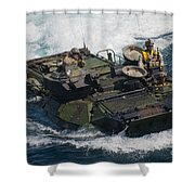 Marines Navigate An Amphibious Assault Shower Curtain