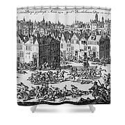 Massacre Of Huguenots Shower Curtain