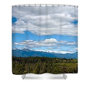 Massive Cloudy Sky Above The Wilderness  Shower Curtain