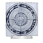 Medieval Zodiac Shower Curtain by Science Source