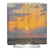 Mediterranean Sunset Shower Curtain