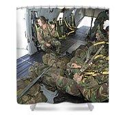Members Of The Pathfinder Platoon Shower Curtain
