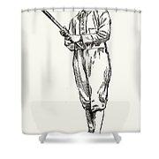 Michael Joseph Kelly Shower Curtain by Granger