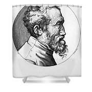 Michelangelo (1475-1564) Shower Curtain by Granger