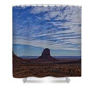 Morning Clouds Over Monument Valley Shower Curtain