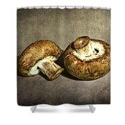 2 Mushrooms Shower Curtain