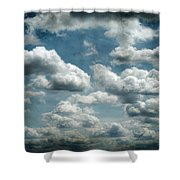 My Sky Your Sky  Shower Curtain