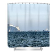 Needles On The Isle Of Wight As Viewed From Mudeford Shower Curtain