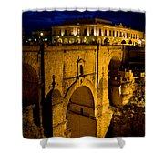 New Bridge In Ronda Shower Curtain