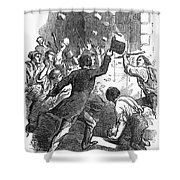 New York: Astor Place Riot Shower Curtain