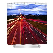 Night Traffic Shower Curtain