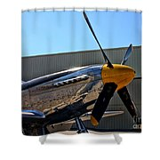 North American P-51 Mustang  Shower Curtain