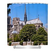 Notre Dame Cathedral Paris France Shower Curtain
